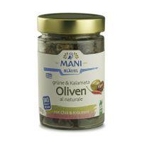 Mani Oliven mit Chili und Kräutern al naturale